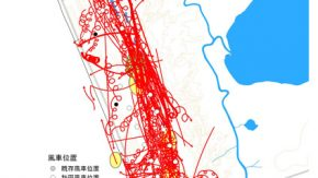 浜里風車計画地のワシ調査結果(日本野鳥の会)