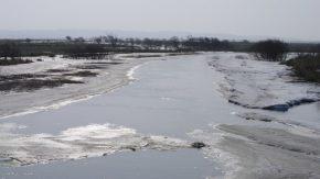 【お知らせ】雪どけのサロベツ川