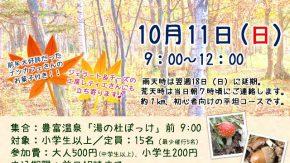 【案内】 10/11(日) 秋の兜沼公園・紅葉ハイキングを開催します