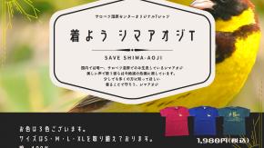 オリジナルシマアオジTシャツの販売を開始します!