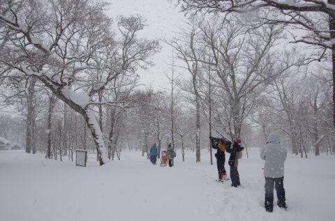 サロベツ☆スノーハイク(3/10)の下見に行ってきました!